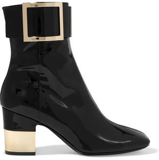 Roger Vivier Patent-leather Ankle Boots - Black