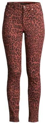 Joe's Jeans Charlie High-Rise Ankle Skinny Leopard-Print Jeans
