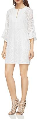 BCBGMAXAZRIA Ruffle-Sleeve A-Line Dress $298 thestylecure.com
