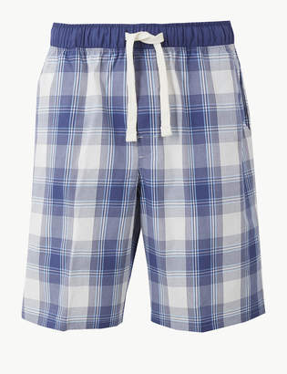 750c1c4c40 M&S CollectionMarks and Spencer 2in Longer Pure Cotton Checked Shorts