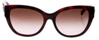 Versace Grommet Tortoiseshell Sunglasses
