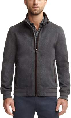 Vince Camuto Mens Wool-blend Bomber Jacket
