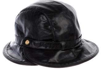 Eric Javits Leather Bucket Hat