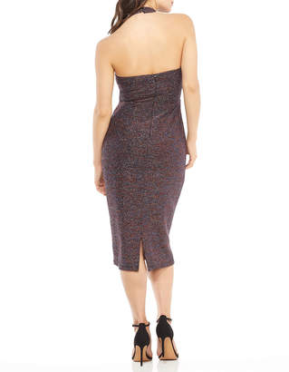 Maggy London Shimmered Cowl-Neck Sheath Dress