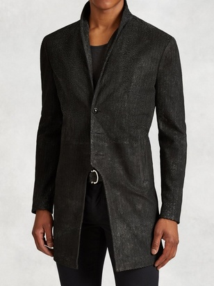 Scored Leather Cutaway Coat $3,998 thestylecure.com