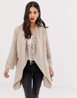 French Connection Ellesmere drawstring drape jacket