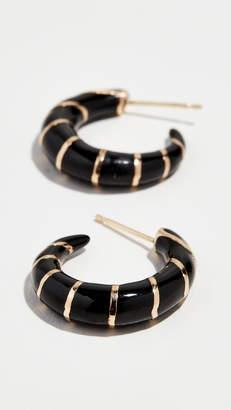 Alison Lou 14k Petite Stripes Hoop Earrings