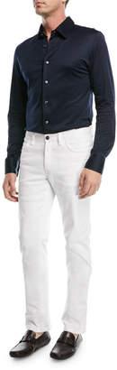 Brioni Straight-Leg Denim Jeans, White