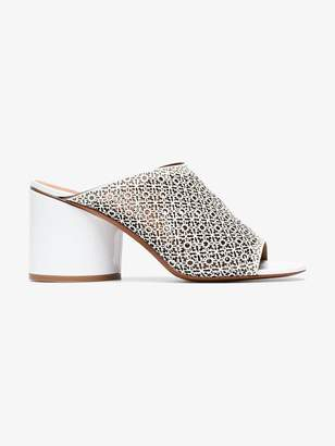Cara Clergerie White 75 leather mules