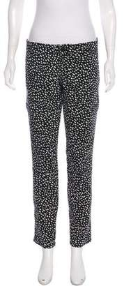Tory Burch Abstract Print Mid-Rise Skinny Jeans