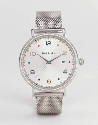 Paul Smith PS0060001 Gauge color mesh watch in silver 41mm