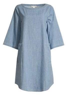 Eileen Fisher Organic Cotton Chambray Shift Dress
