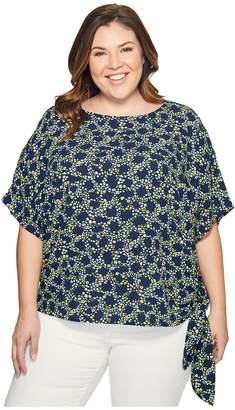 MICHAEL Michael Kors Size Hayden Side Tie Top Women's Clothing