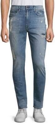 Joe's Jeans Five-Pocket Crane Distressed Straight-Fit Jeans