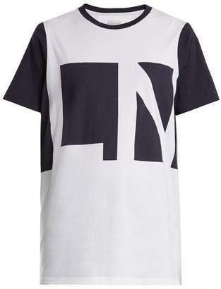 Lndr - Crew Neck Logo Print Organic Cotton T Shirt - Womens - White Multi