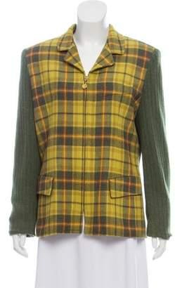 Burberry Vintage Plaid Wool Jacket