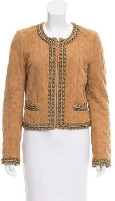 Haute Hippie Embellished Suede Jacket