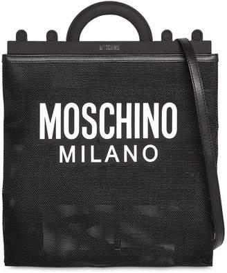 Moschino Logo Print Net Tote Bag