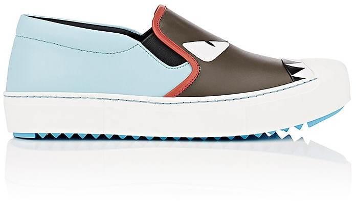 Fendi Women's Buggies Leather Slip-On Sneakers