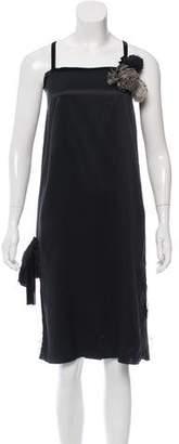 Lanvin Silk Embellished Dress