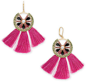 INC International Concepts I.N.C. Gold-Tone Multi-Pavé & Stone Watermelon Tassel Drop Earrings, Created for Macy's