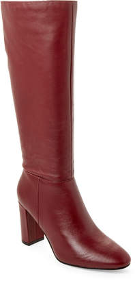 Marc Fisher Burgundy Zimra Tall Leather Boots