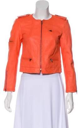 Alice + Olivia Structured Leather Jacket