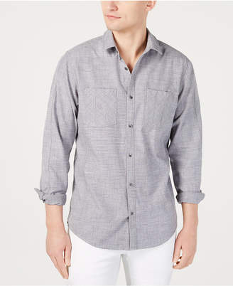 INC International Concepts I.n.c. Men Dual Pocket Chambray Shirt