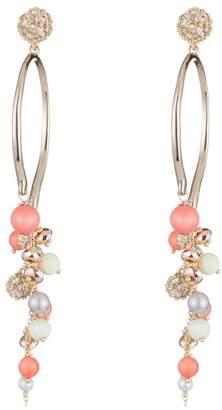 Alexis Bittar Crystal Encrusted Beaded Cluster Arc Post Earring