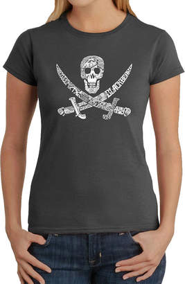 LOS ANGELES POP ART Los Angeles Pop Art Pirate Captains; Ships And Imagery Womens Graphic T-Shirt