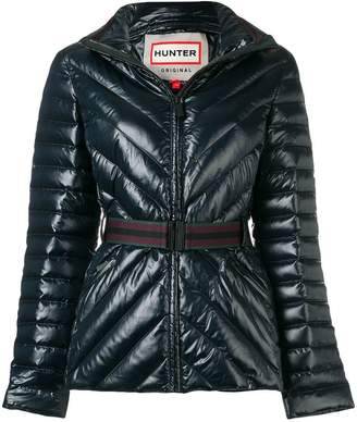 Hunter belted padded jacket