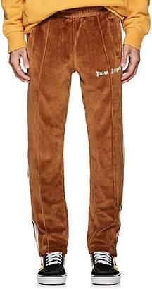 Palm Angels Men's Logo Cotton Velour Track Pants - Camel