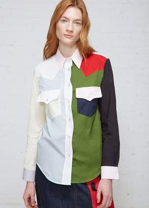 Calvin Klein Color Block Button Down