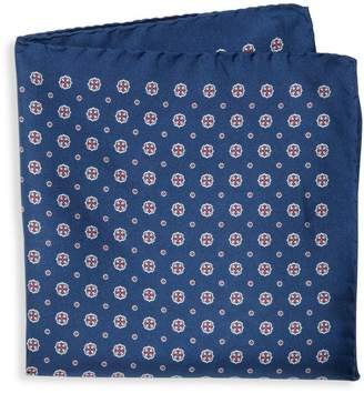 Saks Fifth Avenue Made In Italy Graphic Silk Pocket Square