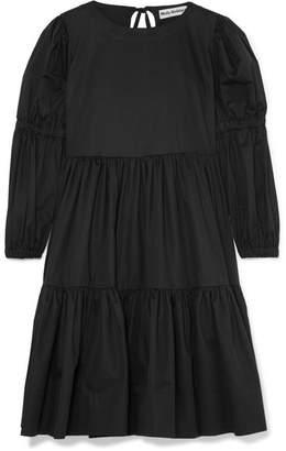 Milla Molly Goddard Tiered Cotton-twill Dress - Black