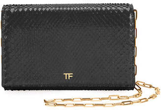 Tom Ford Python Flap Wallet On A Chain