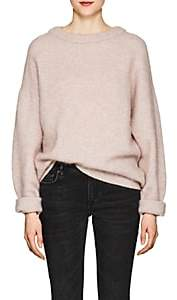 Acne Studios Women's Dramatic Wool Oversized Sweater-Pink