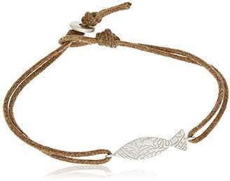 Me & Ro Me&Ro Sterling Paisley Fish Cord Strand Bracelet