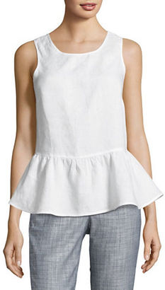 Lord & Taylor Solid Peplum Shell Top $68 thestylecure.com
