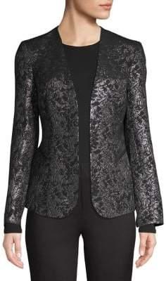 Calvin Klein Jacquard Open-Front Jacket
