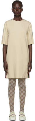 Gucci Off-White Webbing T-Shirt Dress