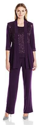 R & M Richards R&M Richards Women's Lace Pant Set