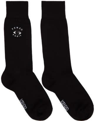 Kenzo Black Jacquard Eyes Socks