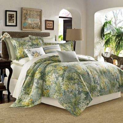 Cuba Cabana Full/Queen Duvet Cover Set in Green