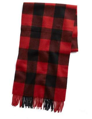 Buffalo David Bitton Joshua Ellis Red Check Cashmere Scarf