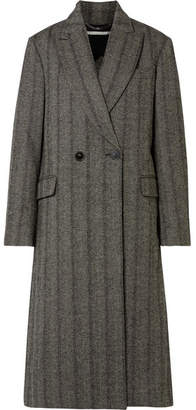 Stella McCartney Oversized Herringbone Wool Coat - Black