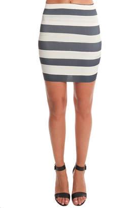 O.d.maison O.D. Maison Paint Stripe Banded Mini Skirt
