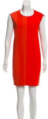 Narciso Rodriguez Wool-Paneled Shift Dress Orange Wool-Paneled Shift Dress