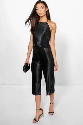 boohoo Tall Lorna Boutique Pleated Jumpsuit