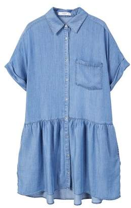 MANGO Denim shirt dress